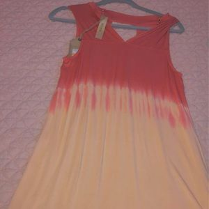 Red orange and yellow sun dress